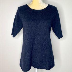 Silk Lore Lambswool & Silk Black Sweater NEW M
